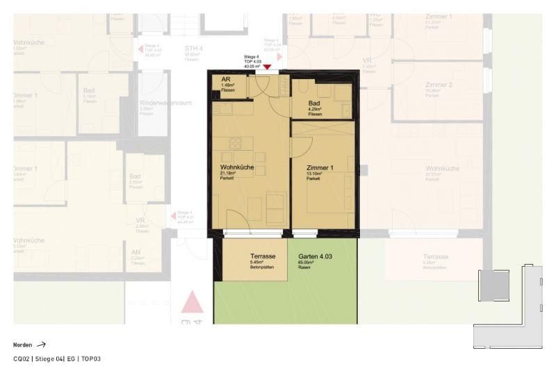 schöne 2-Zimmer-Gartenwohnung /  / 2700Wr. Neustadt / Bild 2
