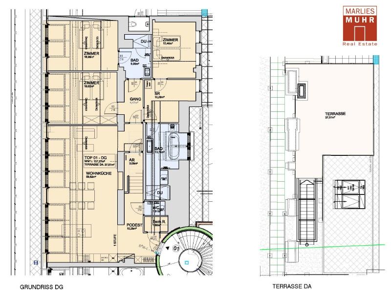 VOM STADTPARK BIS ZUM STEFFL: Exklusive Dachgeschosswohnung mit einzigartigem Blick /  / 1030Wien / Bild 3