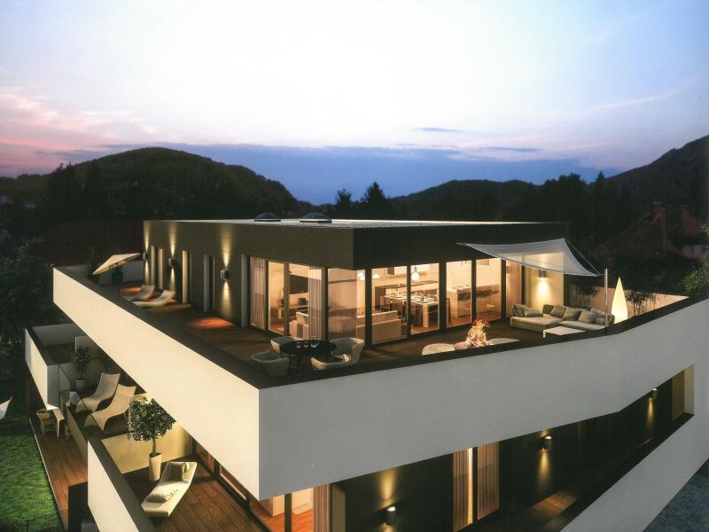 Nonntal: Exklusive 2-Zimmer Wohnung mit 36 qm Terrasse