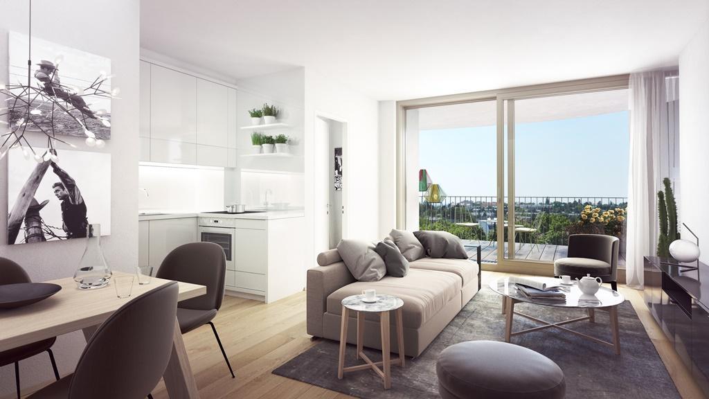"""""""Der Rosenhügel"""" - Provisionsfreier 3-Zimmer-Eigentumswohnung mit ca. 31.29 m² großem Balkon (Neubau!) /  / 1230Wien / Bild 0"""