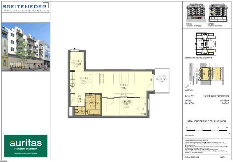 Ruhiger 2 Zimmer NEUBAU - Wohntraum in Grünlage am Stadtrand /  / 1130Wien / Bild 4