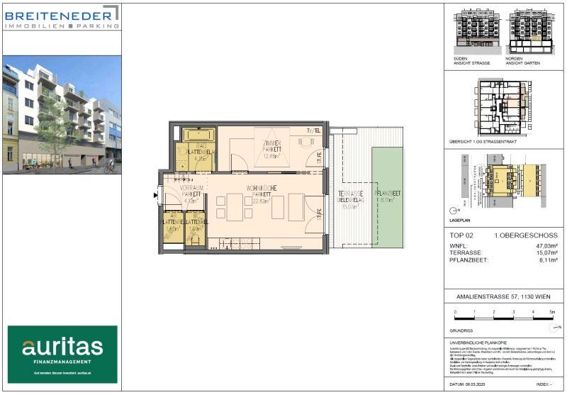 2-Zimmer-Neubauwohnung mit idealer Aufteilung /  / 1130Wien / Bild 8