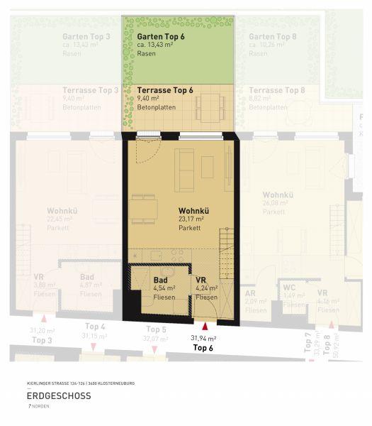 Kierlinger Straße 124-126 - Top 06 - 1,5 Zimmer /  / 3400Klosterneuburg / Bild 5