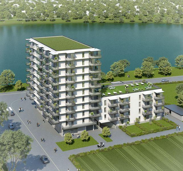Neubau Erstbezug 2-Zimmer-Wohnung inkl Küche, 9,29m² Balkon und Kellerabteil - Blick auf Hirschstettner Badeteich/Z46 OG3 /  / 1220Wien / Bild 2