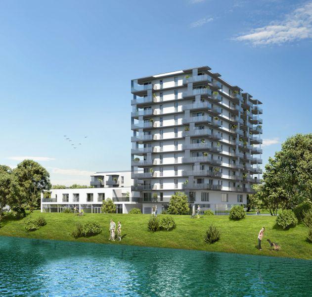 Neubau Erstbezug 2-Zimmer-Wohnung inkl Küche, 9,29m² Balkon und Kellerabteil - Blick auf Hirschstettner Badeteich/Z46 OG3 /  / 1220Wien / Bild 3