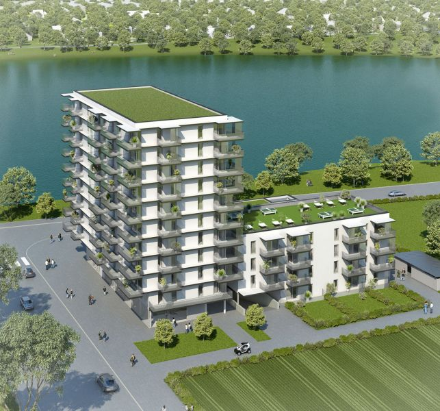 Neubau Erstbezug 2-Zimmer-Wohnung mit Markenküche, 9,29m² Balkon und Kellerabteil - Blick auf Hirschstettner Badeteich/Z54 OG4 /  / 1220Wien / Bild 2