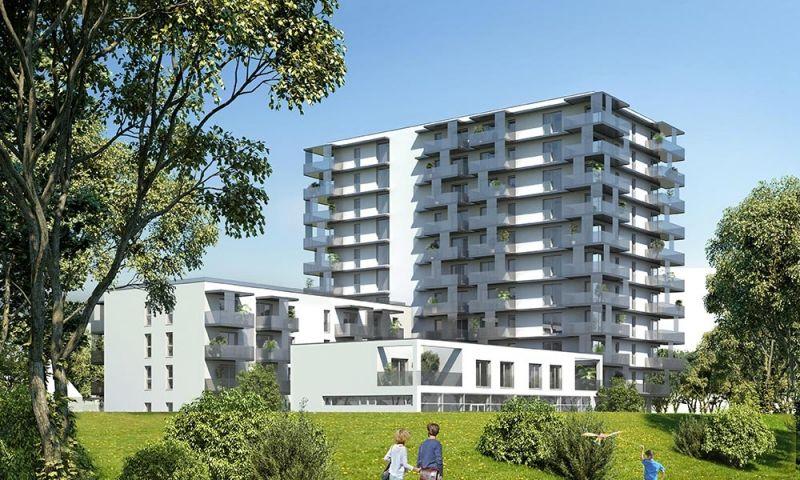 Neubau 2-Zimmer-Wohnung Erstbezug mit hochwertiger Küche, 9,28m² Balkon und Kellerabteil mit Blick auf Hirschstettner Badeteich/Z55 OG4