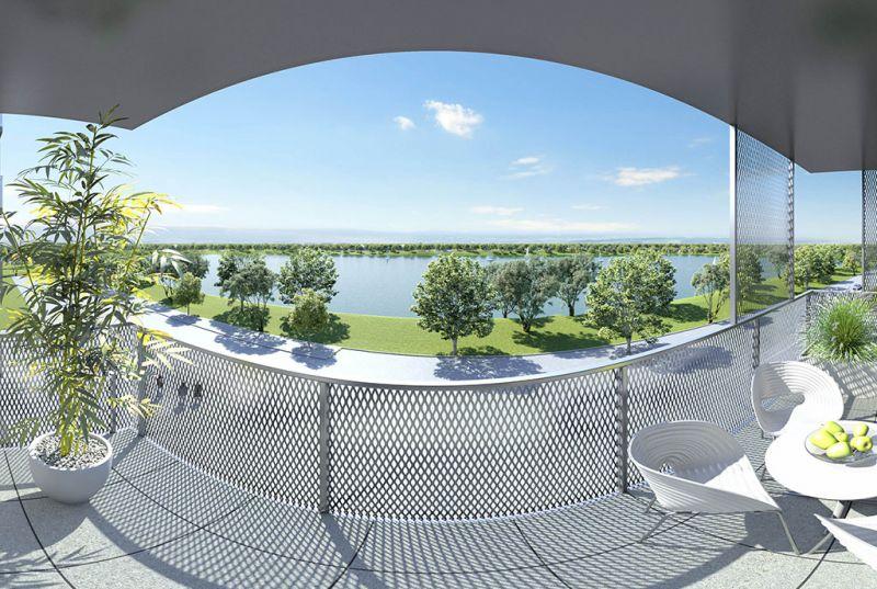 Neubau Erstbezug 2-Zimmer-Wohnung inkl Küche, 9,29m² Balkon und Kellerabteil - Blick auf Hirschstettner Badeteich/Z46 OG3 /  / 1220Wien / Bild 4