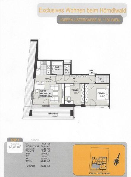 Neubau mit Garten - Grünruhelage mit Wienblick - Erstbezug  /  / 1130Wien / Bild 7